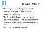 studying statistics