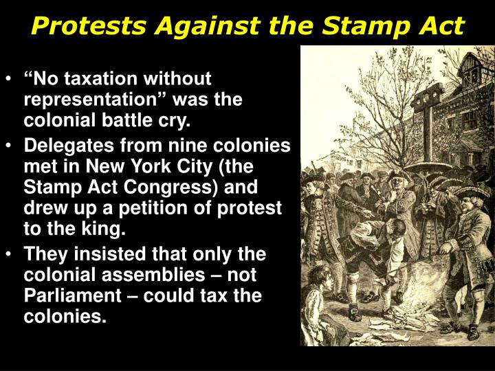 Protests Against the Stamp Act