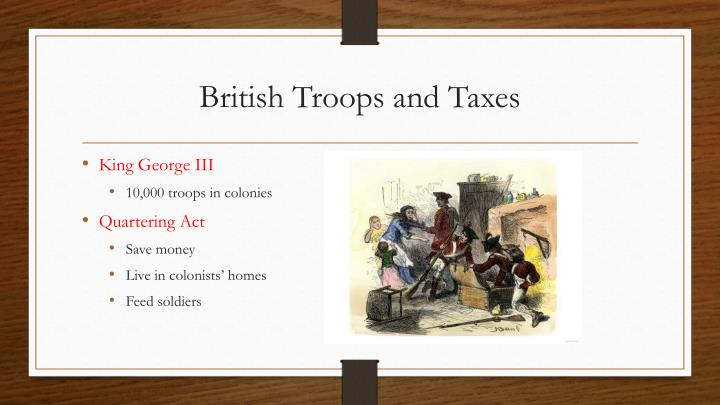 British Troops and Taxes