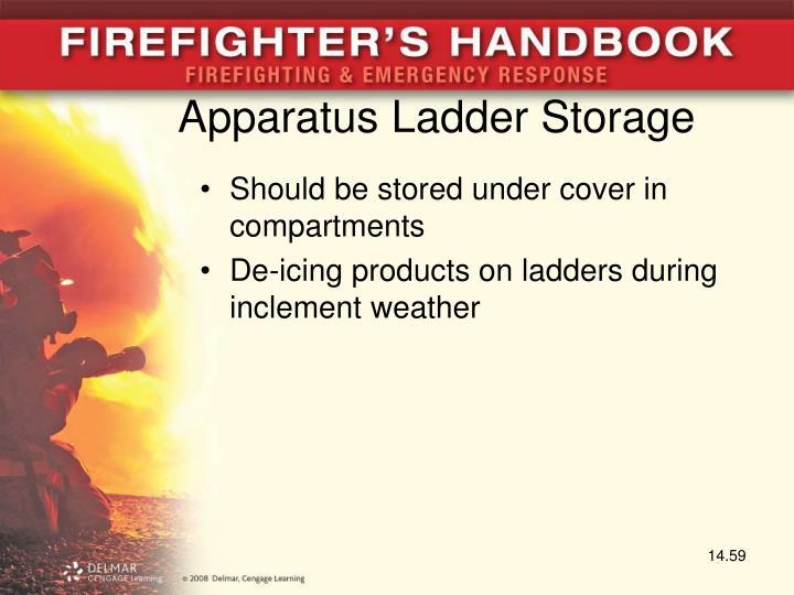 Apparatus Ladder Storage