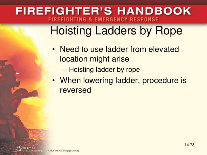 Hoisting Ladders by Rope