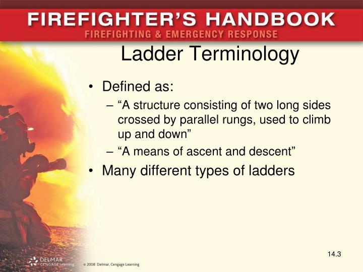 Ladder Terminology