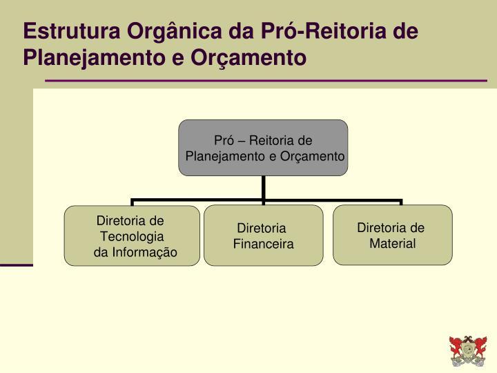 Estrutura Orgânica da Pró-Reitoria de Planejamento e Orçamento
