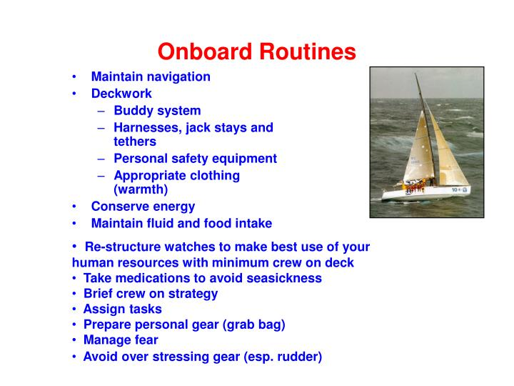 Onboard Routines