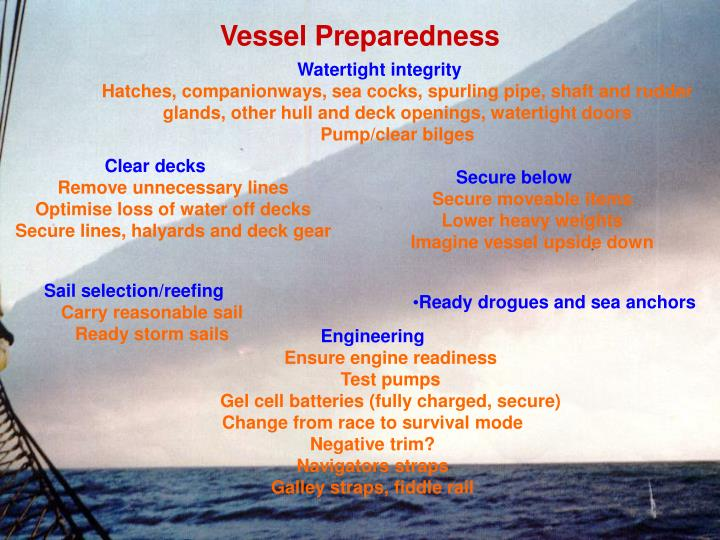 Vessel Preparedness
