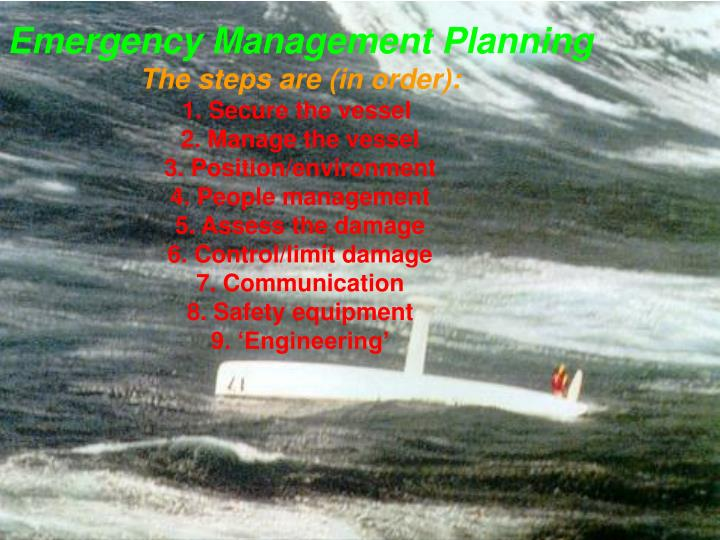 Emergency Management Planning