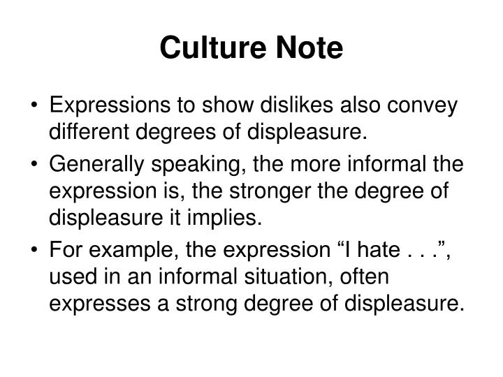 Culture Note