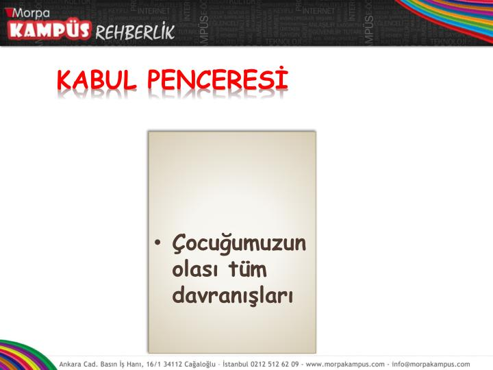 KABUL PENCERESİ