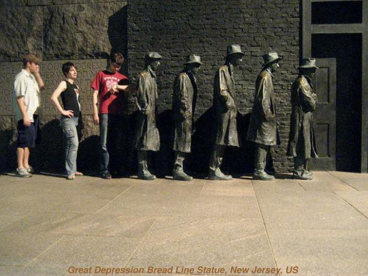 Great Depression Bread Line Statue, New Jersey, US