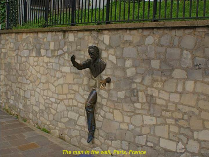 The man in the wall, Paris, France