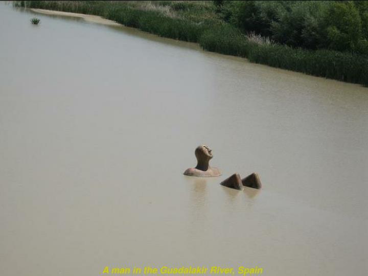 A man in the Guadalakir River, Spain