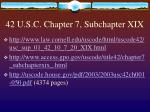 42 u s c chapter 7 subchapter xix