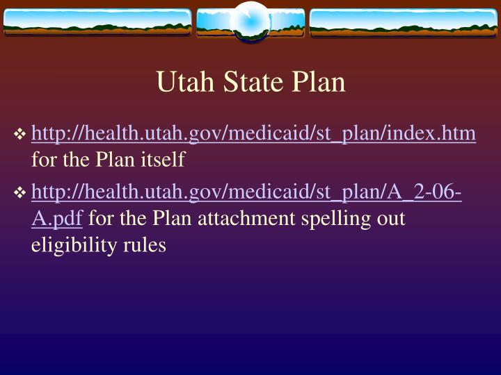 Utah State Plan