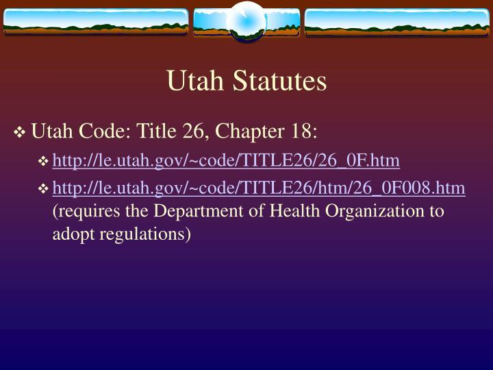 Utah Statutes