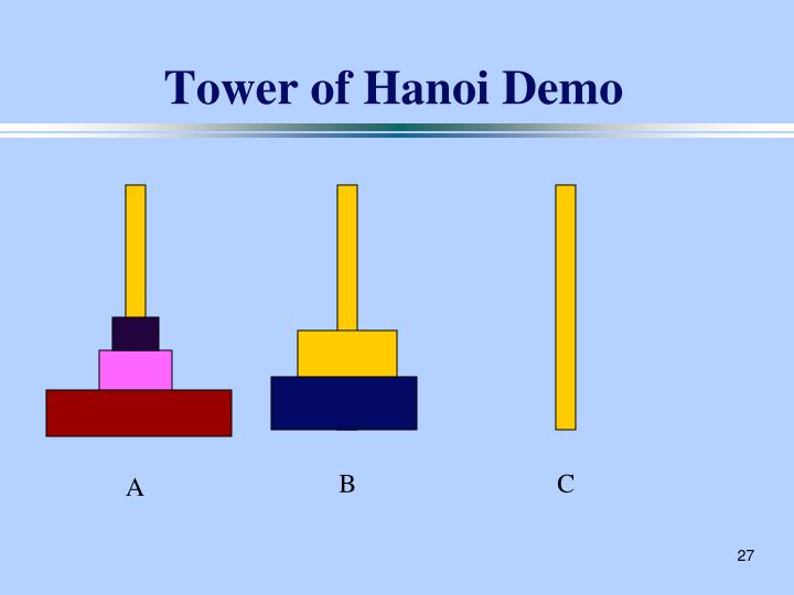 Tower of Hanoi Demo