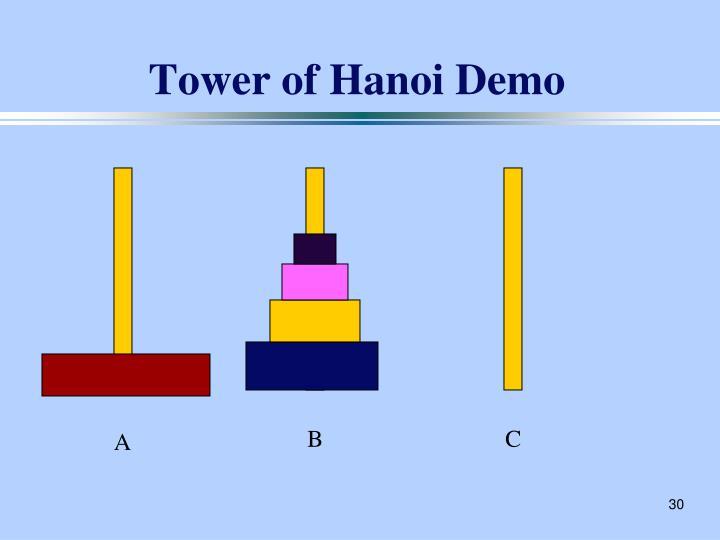 Tower of Hanoi Demo