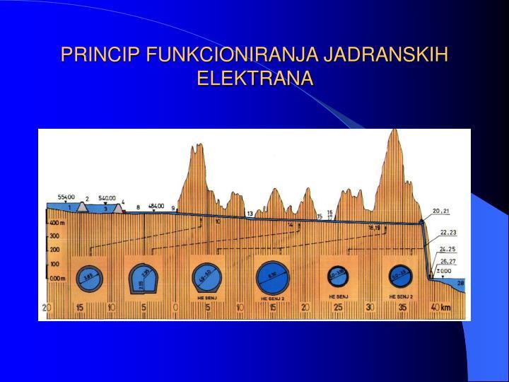 PRINCIP FUNKCIONIRANJA JADRANSKIH ELEKTRANA