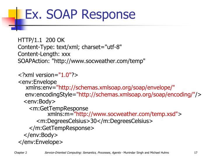 Ex. SOAP Response
