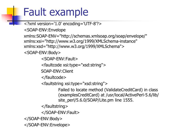 Fault example