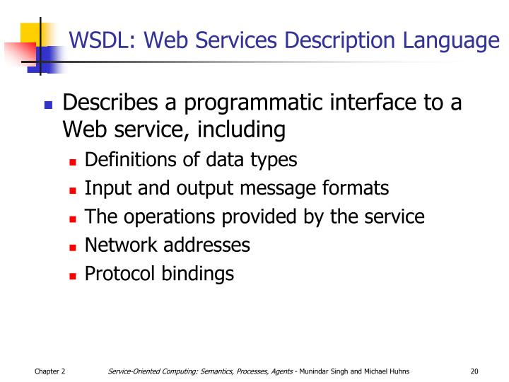 WSDL: Web Services Description Language