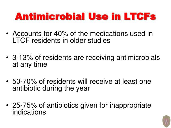 Antimicrobial Use in LTCFs