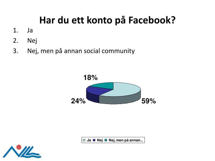 Har du ett konto på Facebook?