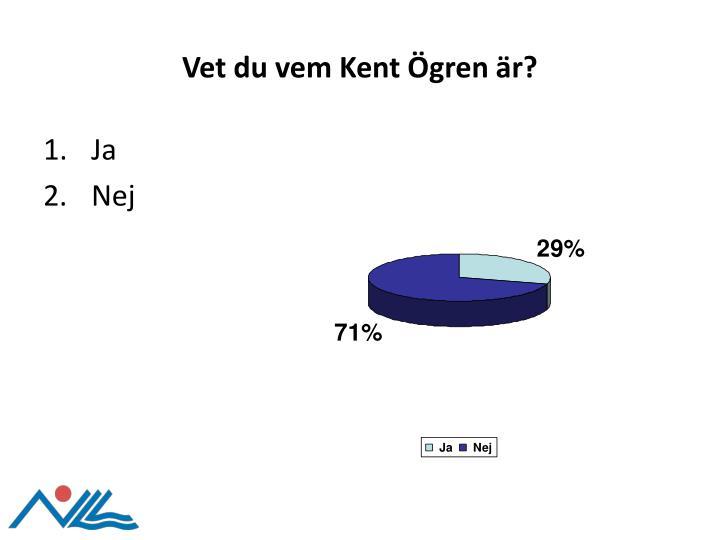 Vet du vem Kent Ögren är?