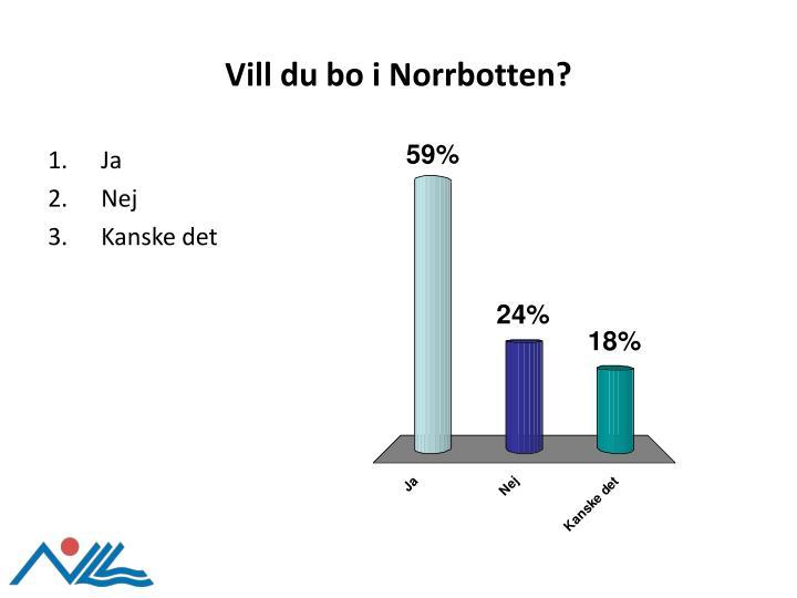 Vill du bo i Norrbotten?