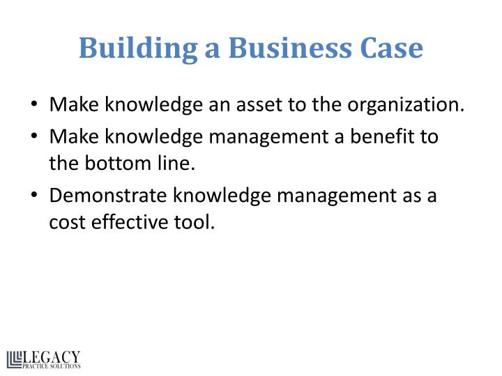 Building a Business Case
