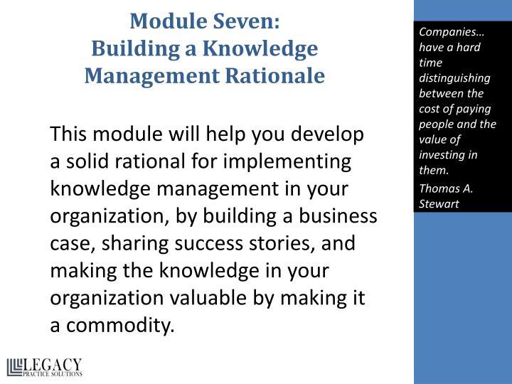 Module Seven: