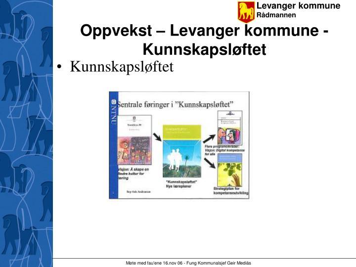 Oppvekst – Levanger kommune - Kunnskapsløftet