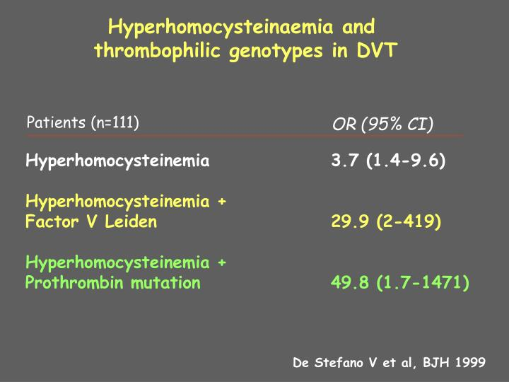 Hyperhomocysteinaemia and