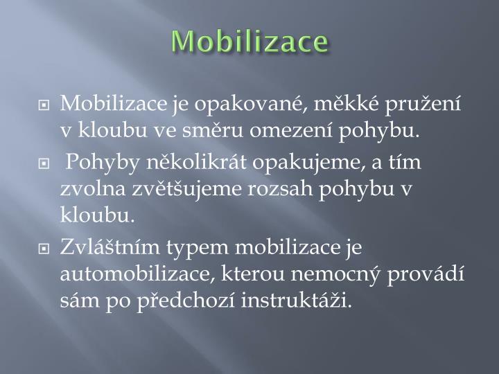 Mobilizace