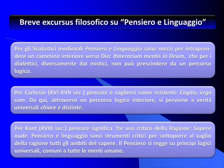 "Breve excursus filosofico su ""Pensiero e Linguaggio"""