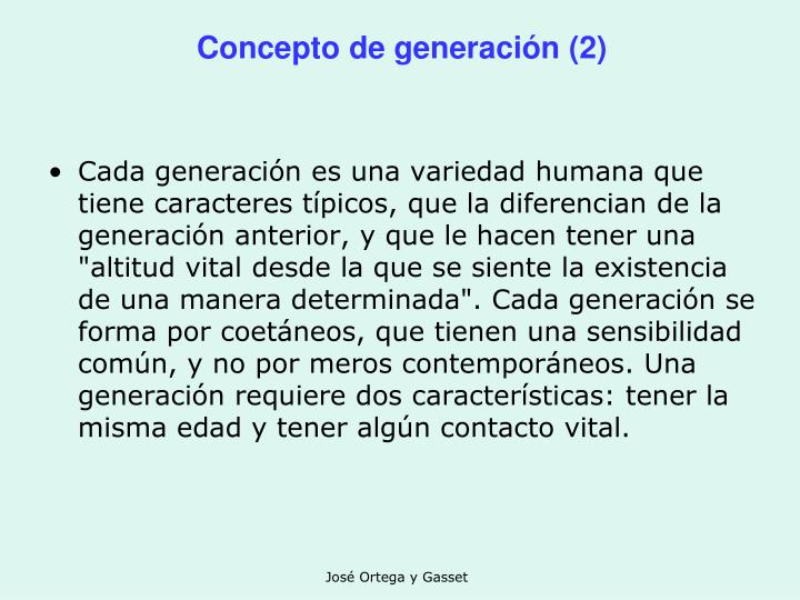 Concepto de generación (2)