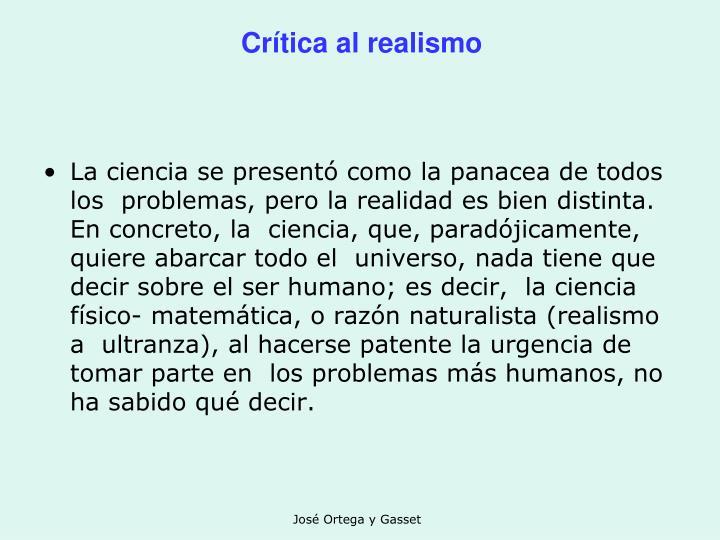 Crítica al realismo