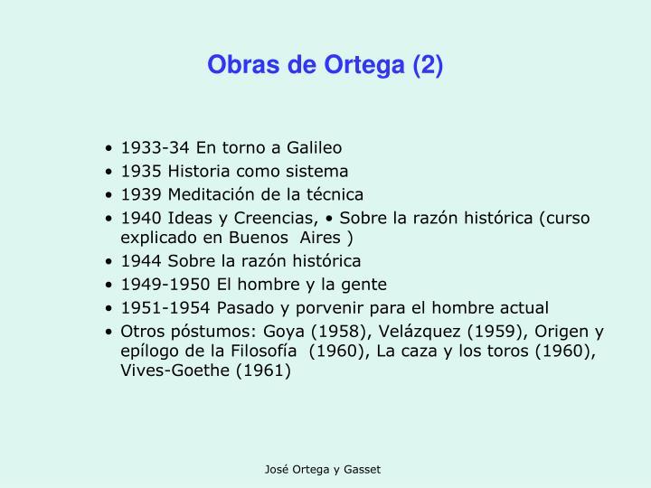 Obras de Ortega (2)
