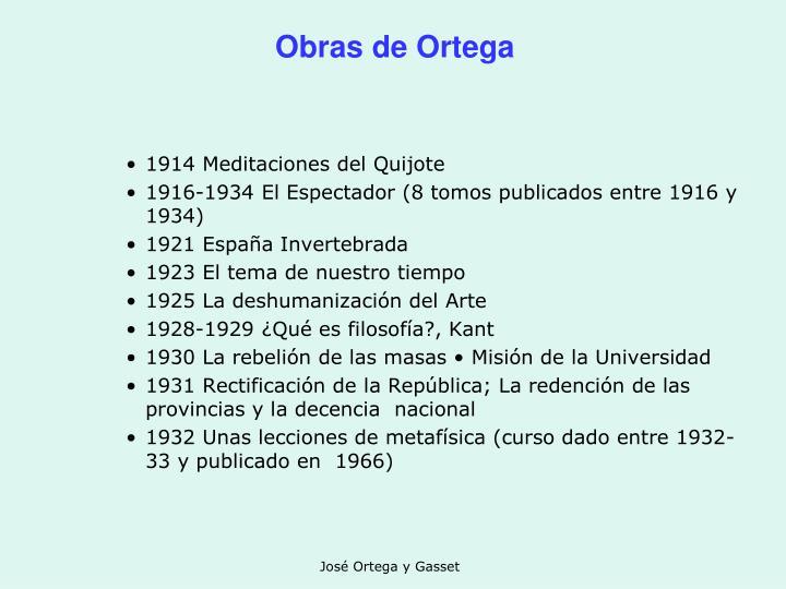 Obras de Ortega