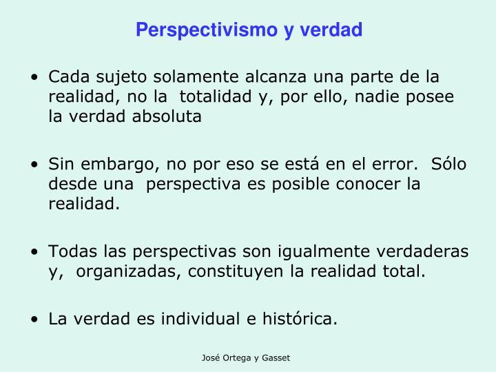 Perspectivismo y verdad