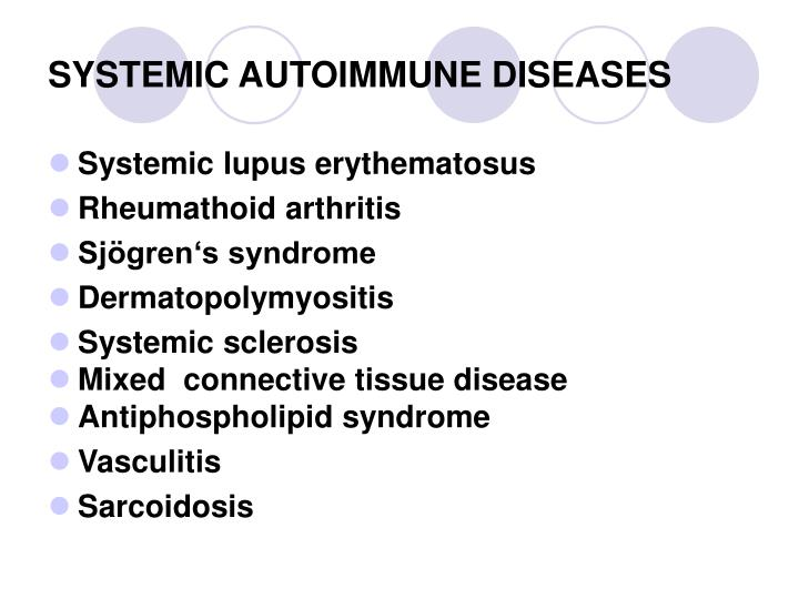 SYSTEMIC AUTOIMMUNE DISEASES