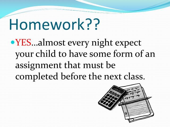Homework??