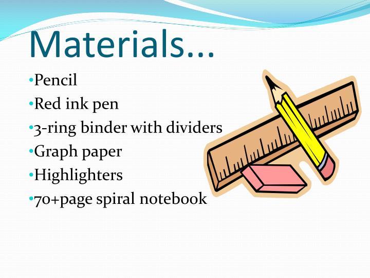 Materials...