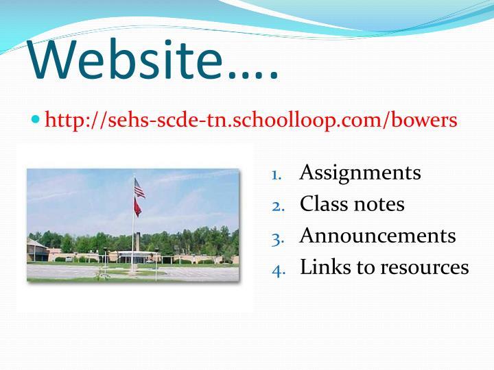 Website….
