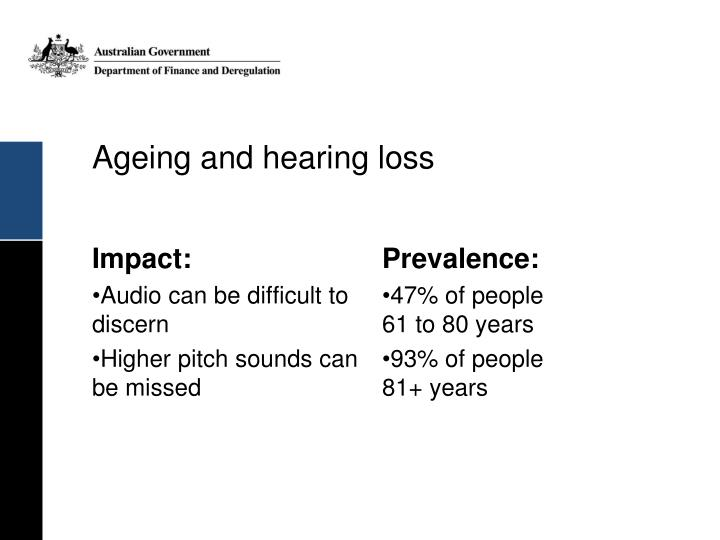 Ageing and hearing loss