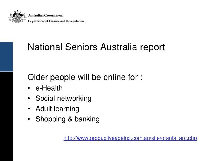 National Seniors Australia report