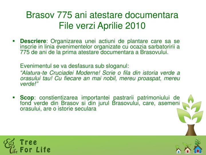 Brasov 775 ani atestare documentara