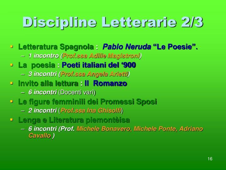 Discipline Letterarie 2/3