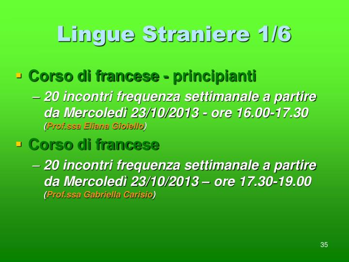 Lingue Straniere 1/6