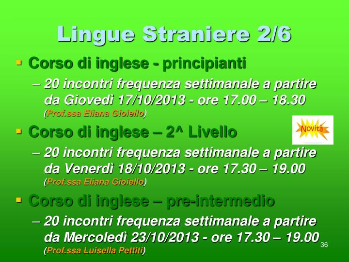 Lingue Straniere 2/6
