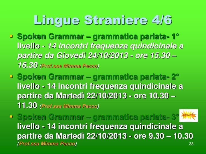 Lingue Straniere 4/6